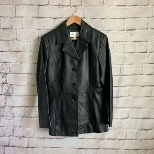 Wothington Leather Jacket, Button Front,  M